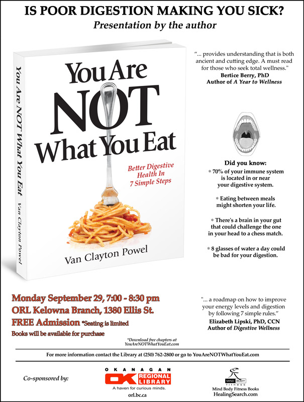 Kelowna Presentation of You Are NOT What You Eat
